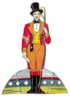 Rollo the Ringmaster Vintage Paper Toy