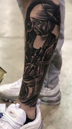 Tattoo Mafia, Chicanas Tattoo, Tattoo Bein, Forarm Tattoos, Jesus Tattoo, Leg Tattoo Men, Forearm Tattoo Men, Leg Tattoos, Clown Tattoo