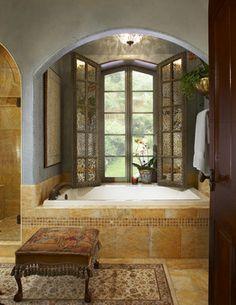 Tuscan bathroom decor on pinterest tuscan bathroom for Old world bathroom ideas