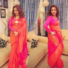 #byloom saree #gahonaz neckpiece Byloom Sarees, Handloom Saree, Indian Wear, David, Outdoors, Child, Display, Living Room, Stylish