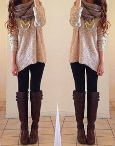 Cute winter outfit for winter lover