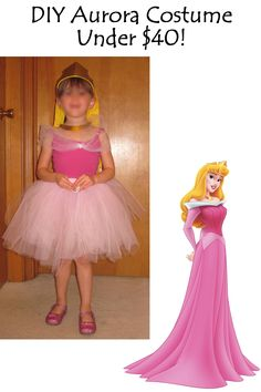 Cheap DIY Aurora - Disney Sleeping Beauty - Costume for kids, babies, and adults - The Frugal Flock