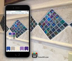 Capture the colors of your favorite tile to match all your colors beautifully. The design tool many people rely on! #Color911 #colorapp #color #app Color911.com Tile Design, App Design, Amy Wax, Coloring Apps, Cool Stuff, Stuff To Buy, Things I Want, Palette, Colorful