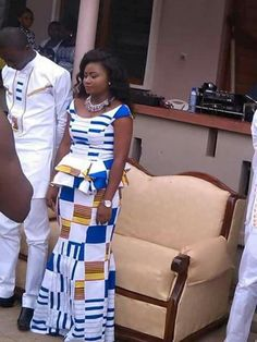 Hottest Kente Styles For Celebrities Couples African Outfits, African Wear Dresses, Latest African Fashion Dresses, African Print Fashion, African American Fashion, African Wedding Attire, African Attire For Men, Kitenge, African Traditional Wedding Dress