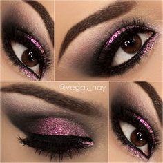 .@vegas_nay | Smokey Eye Prom w/ Pink Glitter Sparkle Request Its @Sophia Thomas Thomas Thomas oranje Cosmetics jumbo penc... | Webstagram - the best Instagram viewer