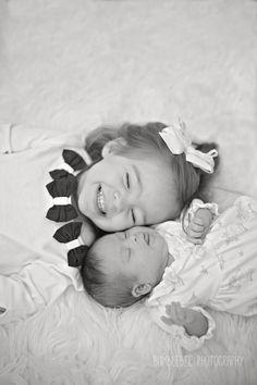 Newborn with Big Sister » Bumblebee Photography – Destin, Florida