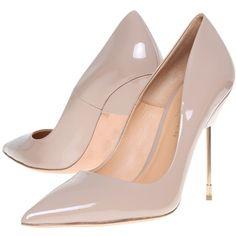 Kurt Geiger Elliot Metal Stiletto Court Shoes, Nude Patent found on Polyvore