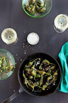Roasted Padron Peppers - #recipe at cali-zona.com