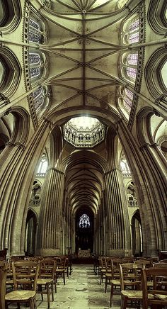 French cathedral...have a seat by bolandrotor, via Flickr