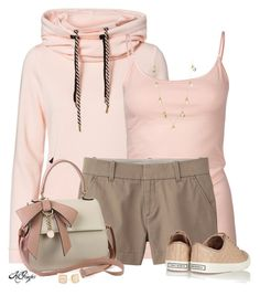 """""""Hoodie, Tank and Shorts Contest 2"""" by kginger ❤ liked on Polyvore featuring Vero Moda, Tresics, Uniqlo, Tory Burch, Lauren Ralph Lauren and Kate Spade"""