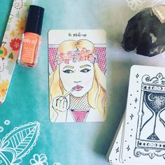 My week goals. Paint my nails. What self-care goals do you have this week? #oracledeck  #selfcareritual