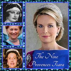 22nd January and today's tiara will be covered over two days. The Nine Provence Tiara was a wedding gift from the people of Belgium to Princess Astrid when she married Prince Leopold in 1926. She declared it would be worn by all future Belgian Queens, and it has.