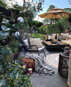 10 Ways to Use Biophilic Design in Your Home - Melanie Jade Design Modern Garden Design, Garden Landscape Design, Modern Design, Small Backyard Landscaping, Backyard Patio, Backyard Ideas, Bohemian Patio, Outdoor Living, Outdoor Decor