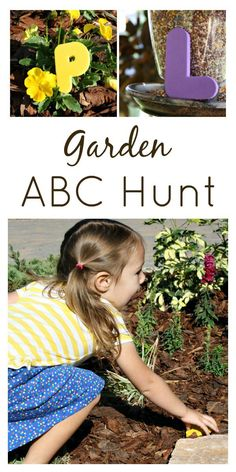 Play and learn outside with this fun garden ABC hunt! Perfect for preschoolers!