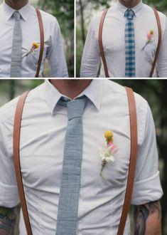 Hosenträger als Must-have für den Bräutigam! Auf die Details kommt es eben an Mehr