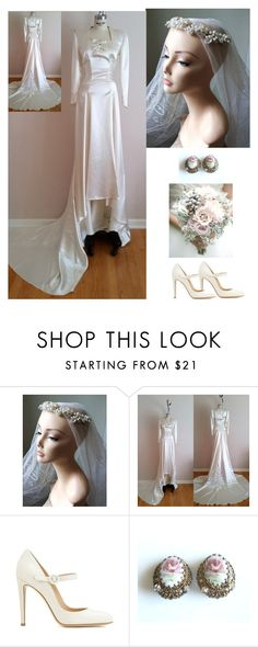 """""""30s Themed Wedding"""" by dezaval ❤ liked on Polyvore featuring Gianvito Rossi"""