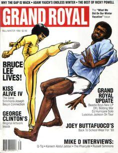 Bruce Lee and Kareem Abdul Jabbar. Dope old Grand Royal magazine cover, 1993