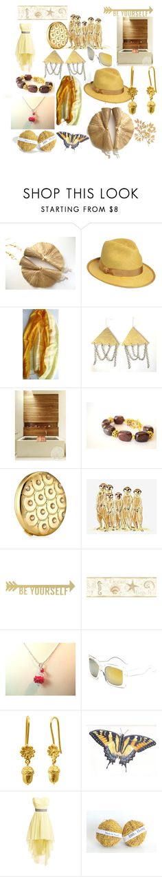 Brightness by anna-recycle on Polyvore featuring Borsalino, Retrò, Estée Lauder, Brewster Home Fashions, Home Decorators Collection, modern, rustic and vintage