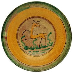 Great Antique Guatemalan Majolica Montiel Studio Plate, circa 1890 | From a unique collection of antique and modern decorative objects at https://www.1stdibs.com/furniture/more-furniture-collectibles/decorative-objects/