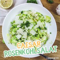 Ceasar Rosenkohlsalat - Famous Last Words Healthy Low Carb Recipes, Healthy Recipe Videos, Healthy Crockpot Recipes, Grilling Recipes, Wine Recipes, Healthy Family Dinners, Healthy Meals For Kids, Family Meals, Healthy Vegetarian Breakfast