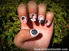 5 seconds of summer nail art | seconds of summer nails | Tumblr