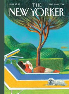 The New Yorker Cover - August 2014 Poster Print by Lorenzo Mattotti at the Condé Nast Collection The New Yorker, New Yorker Covers, Capas New Yorker, Lorenzo Mattotti, Page Turner, Italian Artist, Outdoor Art, Les Oeuvres, Cover Art