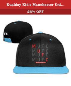 Kualday Kid's Manchester United FC MUFC Hats Caps RoyalBlue. If You Want To Buy Gift For Your Friend Or Family, It Is The Best Choice Is 100% Soft Cotton T Shirt And The Image Well Printed On The Front And Never Fade.