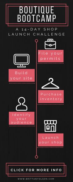 How To Start A Boutique - Starting A Business - Ideas of Starting A Business - Free course for starting your online shop. Start a boutique online in two weeks with this free email course challenge. Boutique Mobiles, Kids Boutique, Boutique Stores, Boutique Ideas, Boutique Names, Sites Online, Online Boutiques, Clothing Boutiques, Online Courses