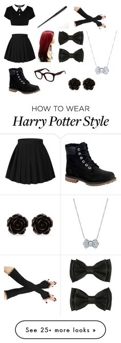 """""""Casual Gryffindor #1 (Marauder's era)"""" by tripod on Polyvore featuring Killstar, Timberland, BERRICLE and Erica Lyons"""