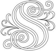"""S"" Letter Perfect Alphabet (Design Pack) Embroidery Alphabet, Paper Embroidery, Embroidery Patterns, Creative Lettering, Lettering Design, Hand Lettering, Urban Threads, Quilling Patterns, Quilling Designs"