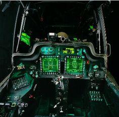 Cockpit of an Apache..
