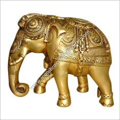 Elephant Brass Statue