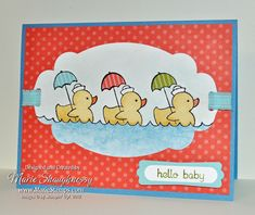 Stampin' Up! Easy Events Baby Card, Marie Shaughnessy, SU! Demo
