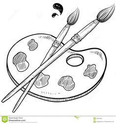 Image result for paint brush outline