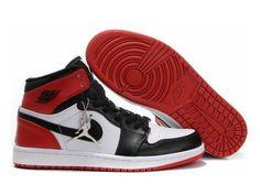 F4T6J077 authentique Nike Air Jordan 1 Retro Blanc Rouge Noir Chaussures Hommes, nike air jordan retro 1 pas cher