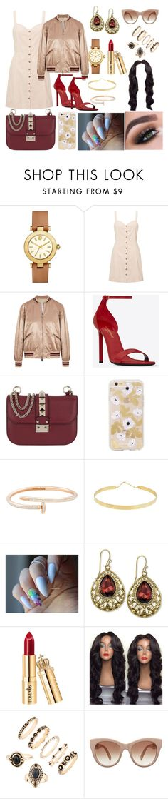 """Golden Girl"" by joeannamarii on Polyvore featuring Tory Burch, Miss Selfridge, Valentino, Yves Saint Laurent, Mia Sarine, Lana Jewelry, 2028 and STELLA McCARTNEY"
