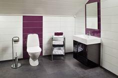 koupelna v podkroví dřevodomku Jindř.Hradec