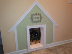Pet-Friendly Decorating -- Under-Stair Doghouse