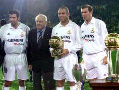 Historia del REAL MADRID. Luis Figo, Ronaldo y Zinedine Zidane: