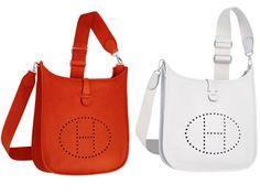 Hermes Orange and White Evelyne III PM Bag