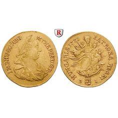 Römisch Deutsches Reich, Maria Theresia, Dukat 1771, ss+: Maria Theresia 1740-1780. Dukat 1771 Nagybanya. Büste mit Witwenschleier… #coins