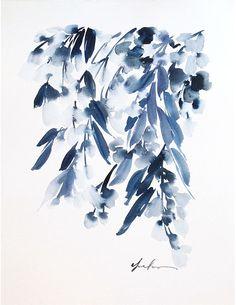 wisteria_indigo_original_11x14. Yan Chang