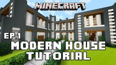 Minecraft Tutorial: How To Build A Modern House Ep1 (Layout And D...