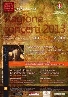 """Locandina della rassegna musicale """"anNOTAzioni 2013"""" Cover, Books, Movie Posters, Culture, Livros, Book, Slipcovers, Livres, Film Posters"""
