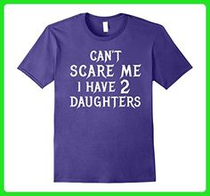 Mens Funny Dad of 2 Daughters Halloween Shirt Gift for Husband Large Purple - Holiday and seasonal shirts (*Amazon Partner-Link)