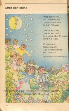 Libros de Primaria de los 80's: diciembre 2010 Spanish Lessons For Kids, Learning Spanish, Spanish Activities, Spanish Class, Baby Songs, Kids Songs, Poetry For Kids, Spanish Songs, Hispanic Heritage