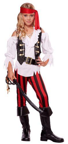 Girls' Posh Pirate Costume - Tween Pirate Costumes - New Costumes for Halloween 2015