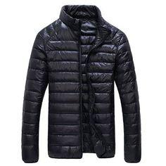 Winter Duck down jacket Men solid fashion thin ultra light down jacket Parka Coats