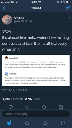 As a fanfic writer and published author both I can say the difference is getting paid But id say it's not a different genre its a different medium Poetry and prose are different but blank verse is. Writing Humor, Book Writing Tips, Writing Help, Writing Prompts, Writing Skills, Tumblr Funny, Funny Memes, Hilarious, Mbti