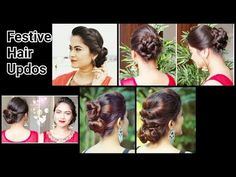 2 Quick&Easy Indian Bun Hairstyles for saree/anarkali/lehnga//Party Hairstyles f. - 2 Quick&Easy Indian Bun Hairstyles for saree/anarkali/lehnga//Party Hairstyles for medium/long hair - Indian Bun Hairstyles, Easy Hairstyles For Long Hair, Different Hairstyles, Elegant Hairstyles, Party Hairstyles, Deepika Hairstyles, Bridal Hairstyles, Hairstyle Ideas, Simple Bridal Hairstyle